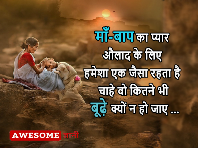 parents day quotes and shayari in hindi, best lines for parents in hindi