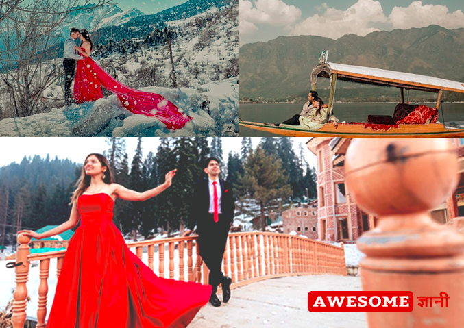 best pre wedding shoot location in Jammu and Kashmir
