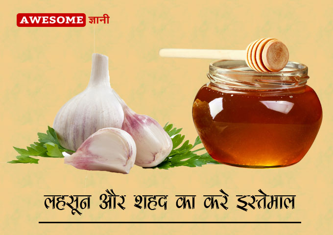 Honey and garlic mixture - Home remedies for cough in hindi