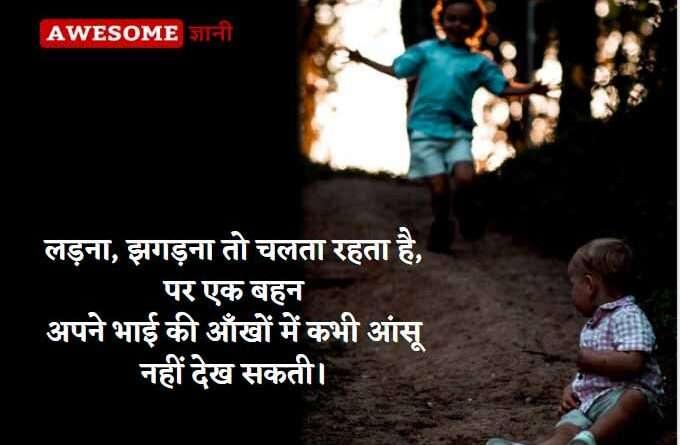 Brother sister quotes hindi